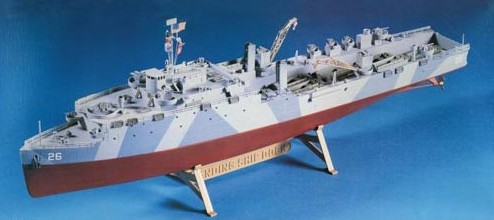 Description: 1/288 Landing Ship Dock (LSD) Casa Grande Class USS Tortuga Amphibious Assault Ship